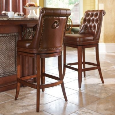 FRONTGATE Frances Bar Stool | 599.00 | #45848 (price may vary w/upholstery & 52 best Bar Stools images on Pinterest | Swivel bar stools ... islam-shia.org