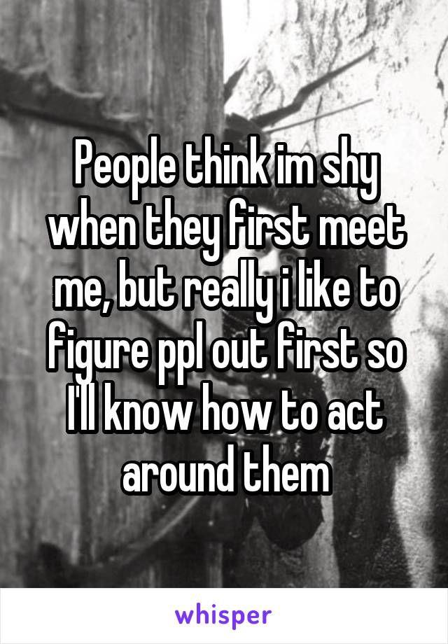 shy around guys dating single