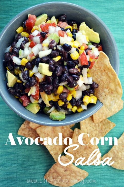 Avocado Corn Salsa Recipe, the perfect fresh snack full of veggies! Simple and easy to make for a filling snack or appetizer. We love this!