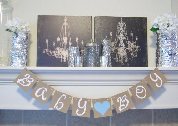 Baby Boy Sign  Baby Boy Shower Decorations  Baby by lolaandcompany, $16.00