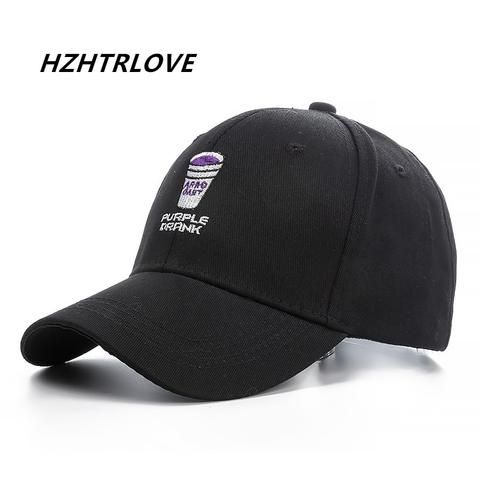 c16ddbc7fad03 High Quality Brand Purple Drank Snapback Cap Cotton Baseball Cap For Men  Women Adjustable Hip Hop Dad Hat Bone Garros