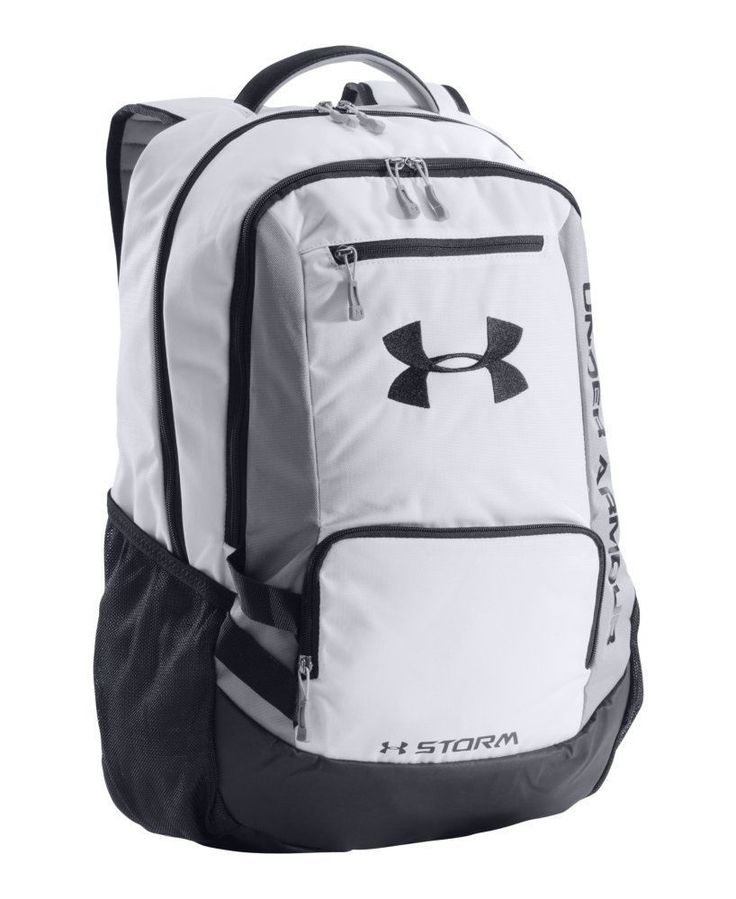 under armour hustle storm backpack book bag rugged back to. Black Bedroom Furniture Sets. Home Design Ideas