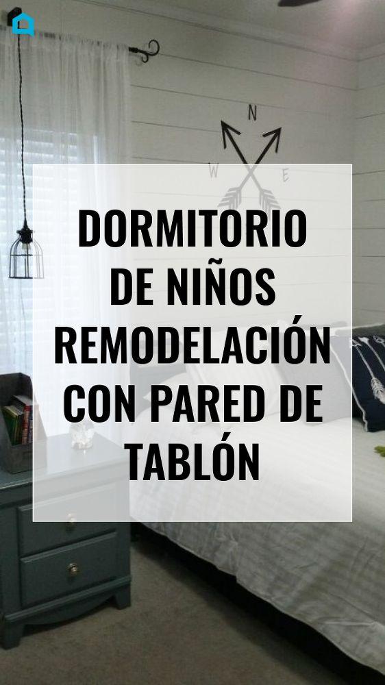 Dormitorio de Niu00f1os Remodelaciu00f3n Con Pared de Tablu00f3n Fuera con Sk…
