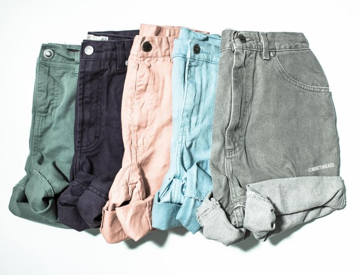 ALL SIZES Vintage Mystery Colored High Waisted Denim Shorts - Mint Threads - 1