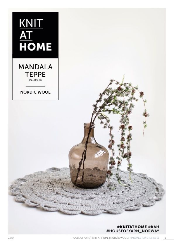 15-16 MANDALA TEPPE | free crocheting pattern | crocheted rug | crocheted mandala | crochet pattern | chunky crochet
