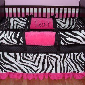 Zebra Print Baby Bedding