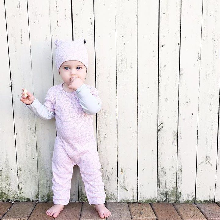 • This little cutie in the new Anarkid Galaxy romper & beanie. Thanks for the sweet pic @allaboutharlowrayne & @anarkidorganic X • www.tinystyle.com.au #organic #babyclothes #romper #kidsfashion