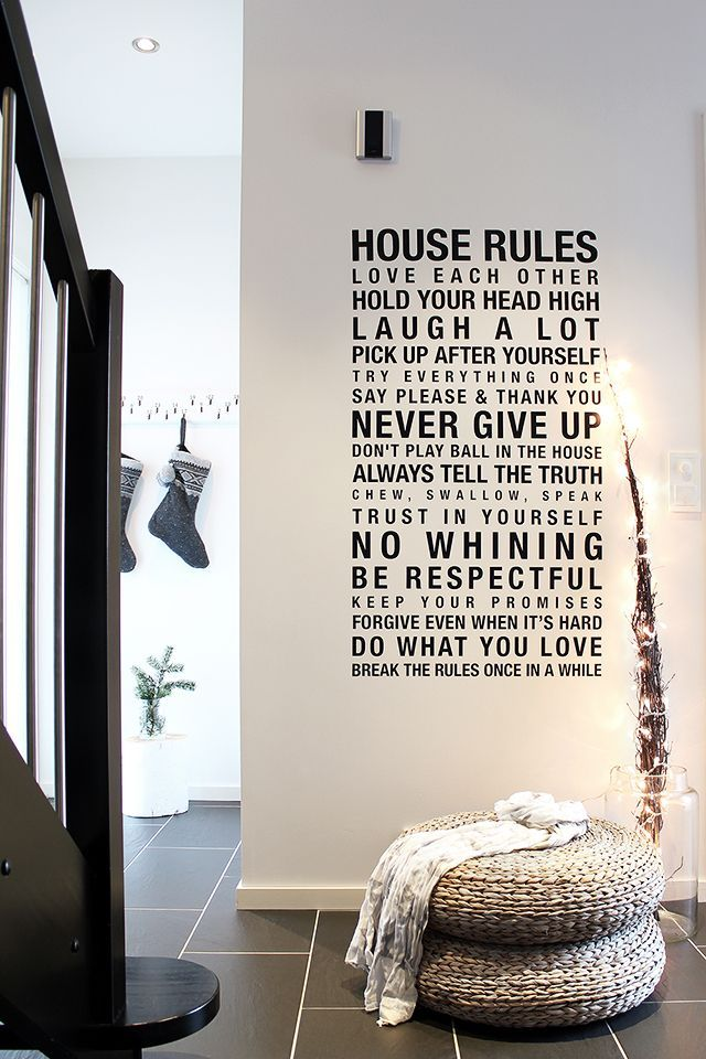 ♥ love the rules right on the wall. No frame or board or anything.