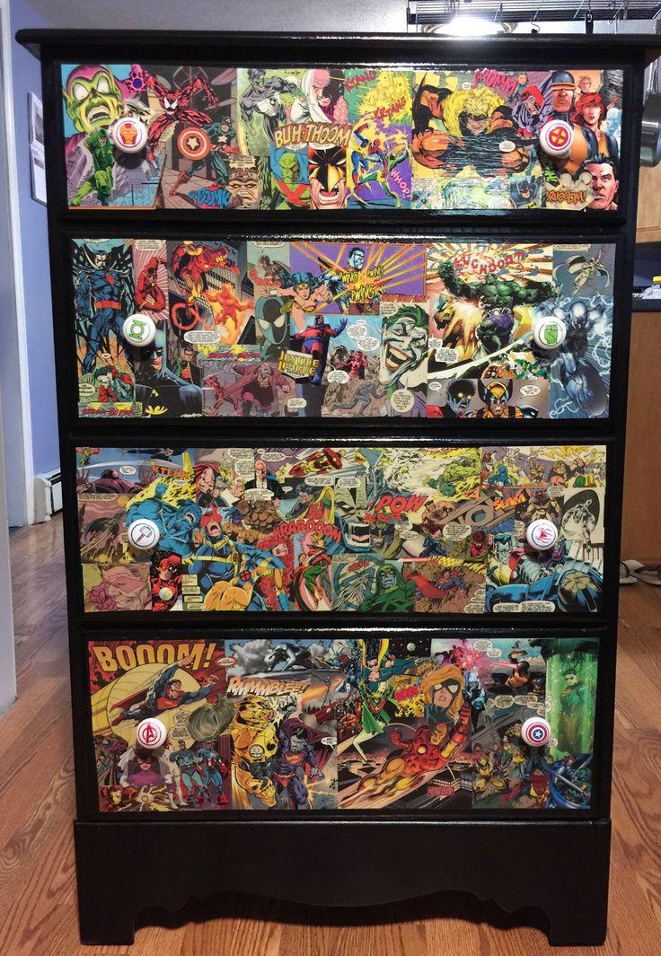 Dresser Drawers Superhero Dresser Pinterest Boys