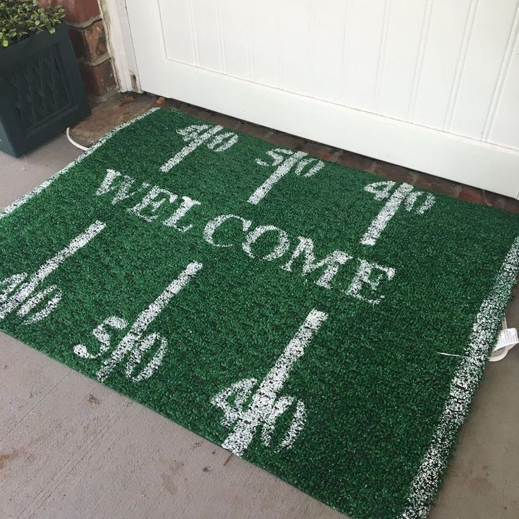 Show Team Spirit with Your Doormat