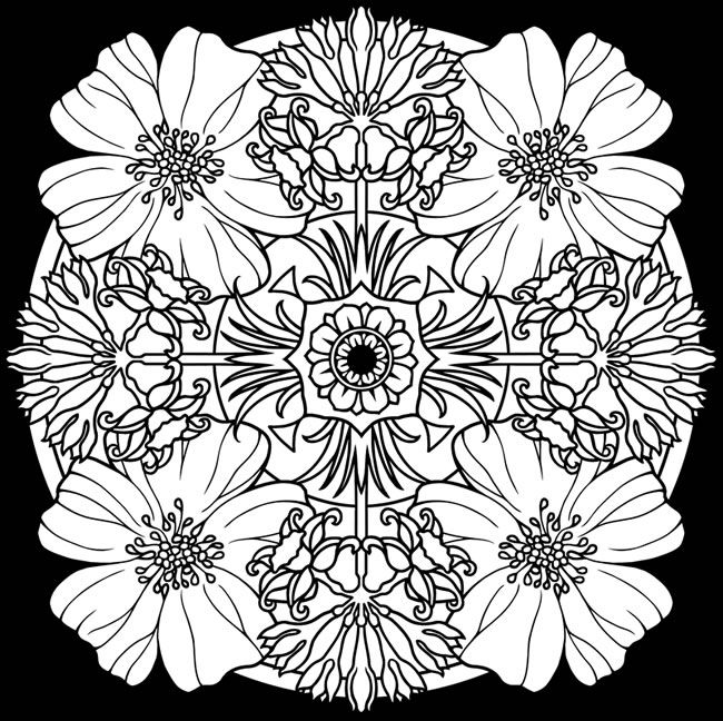 Creative Haven Flower Mandalas Coloring Book Stunning