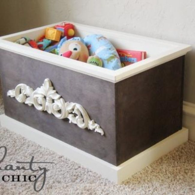 chic wood toy box diy decorative boxes for the home