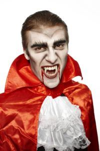 Halloween Vampire Makeup and costume