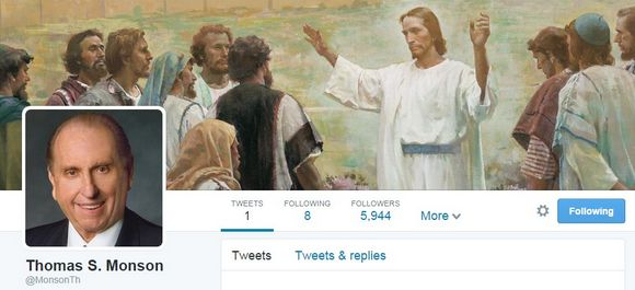 President Monson's First Tweet