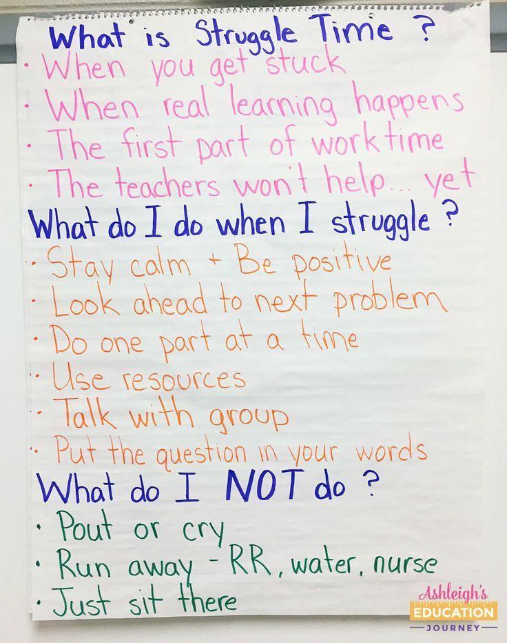 Why I Want My Students To Struggle Elementary Education