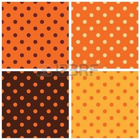 Colorful Thanksgiving seamless dotted pattern set  Vector