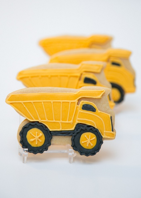 Dump Truck Cookies for Boy's 3rd Birthday | Sweet Kiera