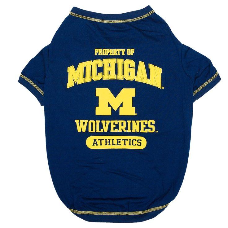 Michigan Wolverines Pet Tee, Multicolor