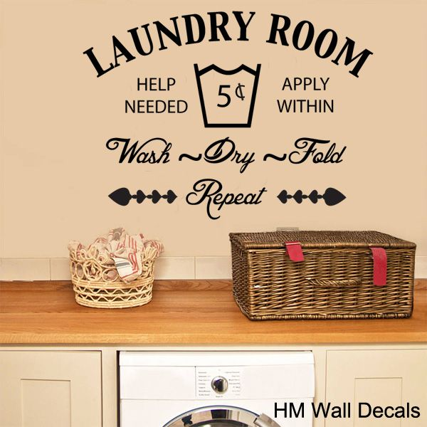 The Laundry Room Removable Wall Sticker By HM Wall Decal. Get It Now Or  Find More Wall Decals U0026 Murals At Temple U0026 Webster.
