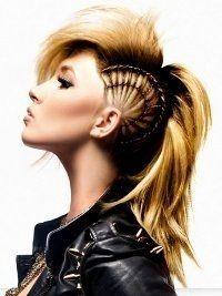 Sensational 1000 Ideas About Female Mohawk On Pinterest Mohawk Hairstyles Short Hairstyles For Black Women Fulllsitofus