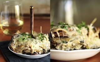 Dagen Zonder Vlees - Dag 33: creamy lasagne met champignons en spinazie