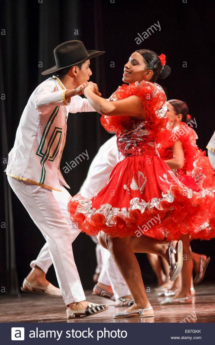 Colombian Plains Dance; Joropo Stock Photo, Royalty Free