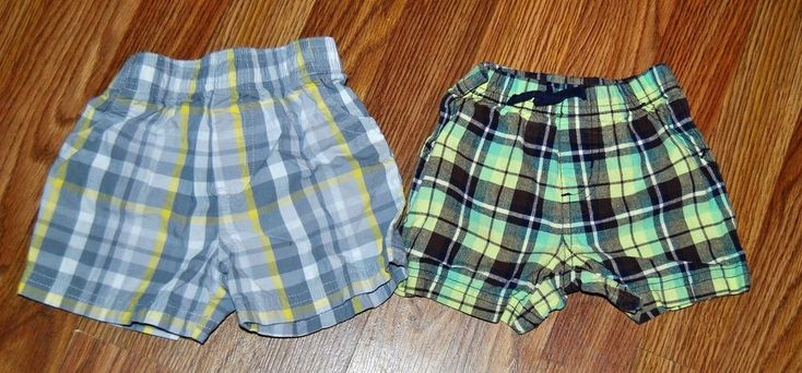 6-9 Months Boys Plaid Shorts Lot EUC Spring Summer #Shorts #DressyEveryday