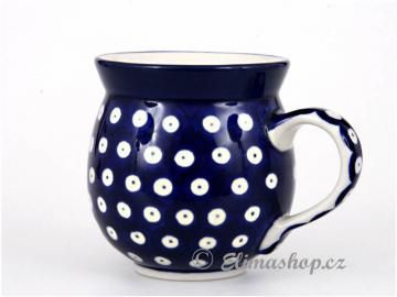 Traditional dots MUG .This Handmade Polish Pottery bubble mug is from ELIMAshop.cz . Boleslawiec . Bunzlau . ceramics . stoneware . dots ( buclák střední 0,35 l )
