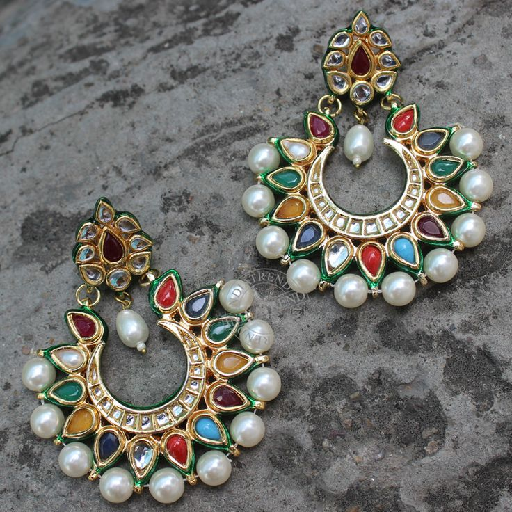 Mohina Earrings by Indiatrend. Shop Now at WWW.INDIATRENDSHOP.COM