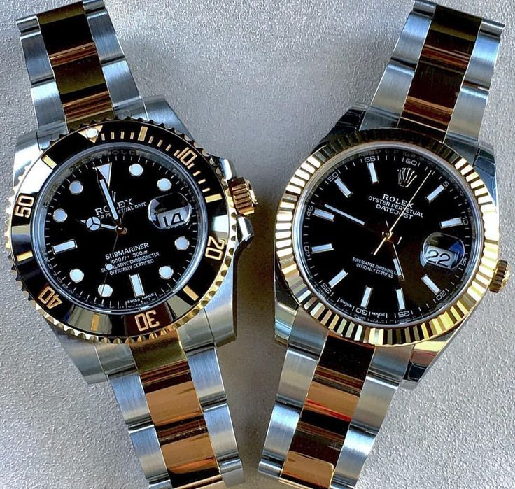 Two of my all time faves the Rolex Submariner and DateJust II - buy cheap watches online, watches for men on sale, women watches on sale *sponsored https://www.pinterest.com/watches_watch/ https://www.pinterest.com/explore/watches/ https://www.pinterest.com/watches_watch/bulova-watches/ http://www.evine.com/b/watches/invicta/