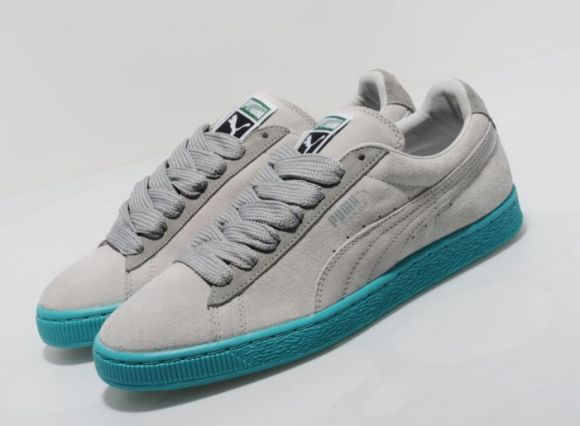 "Puma Suede Eco ""Grey/Teal Blue"""