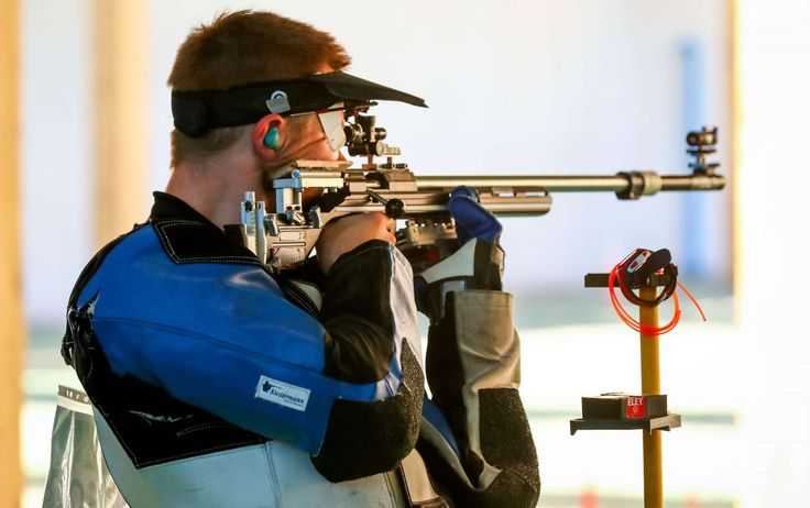 Best images from Aug. 14 at the Rio Olympics:      Matthew Emmons of the United States competes during men's 50-meter rifle three position qualification in the Rio 2016 Summer Olympic Games at Olympic Shooting Centre.