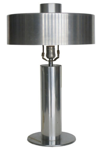 Art Deco Machine Age Spun Aluminum Table Lamp