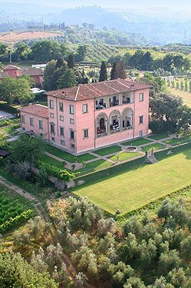 Villa Mangiacane--a 15th century villa built by the Machiavelli family located about 7 1/2 miles south of Florence.