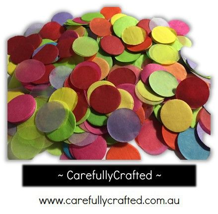 CarefullyCrafted - 25 Grams Tissue Paper Confetti - Rainbow - 1 inch Circles  - wedding, wedding planning, event décor, décor, tableware, decoration, tableware, rainbow, rainbow confetti, confetti mix, bright colours, balloon confetti, paper pieces, circle confetti http://carefullycrafted.com.au/25-grams-tissue-paper-confetti-rainbow-1-inch-circles-cc7/