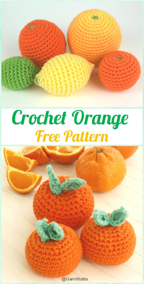 Crochet Amigurumi Orange Free Pattern- Crochet Amigurumi Fruits Free Patterns