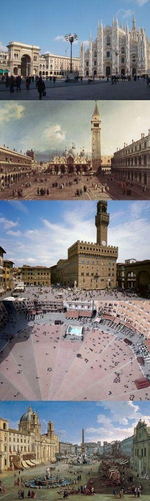Le cinque piazze italiane più famose all'estero