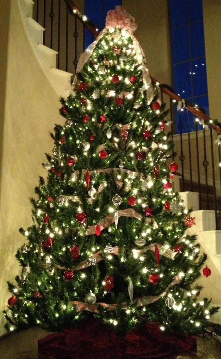Christmas Tree Silver Red Everything Christmas
