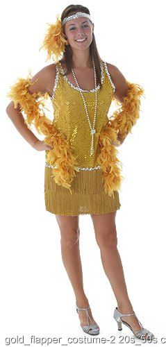 f08f97bf859 Sequin   Fringe Gold Flapper Costume Plus Size Sequin and fringe dress  w liningSilver sequin headband with feather tuftFlaunt your disdain for the  ...