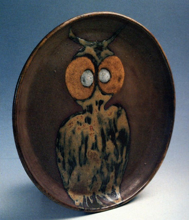 Füreya Koral, plate, gres, 29 cm, 1970