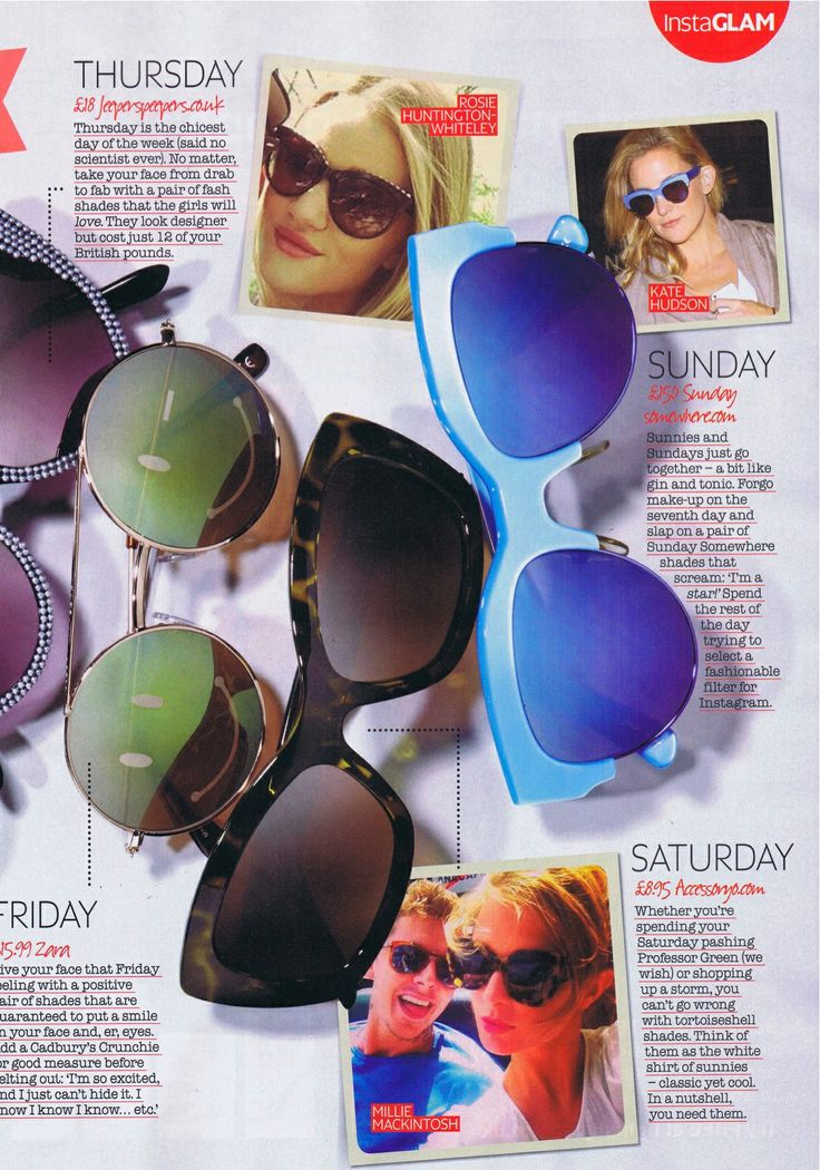 Accessoryo's Vintage Style Patterned Cats Eye Sunglasses featured in NOW magazine. #Accessoryo #Fashion #SS14 #Trends #SummerFashion