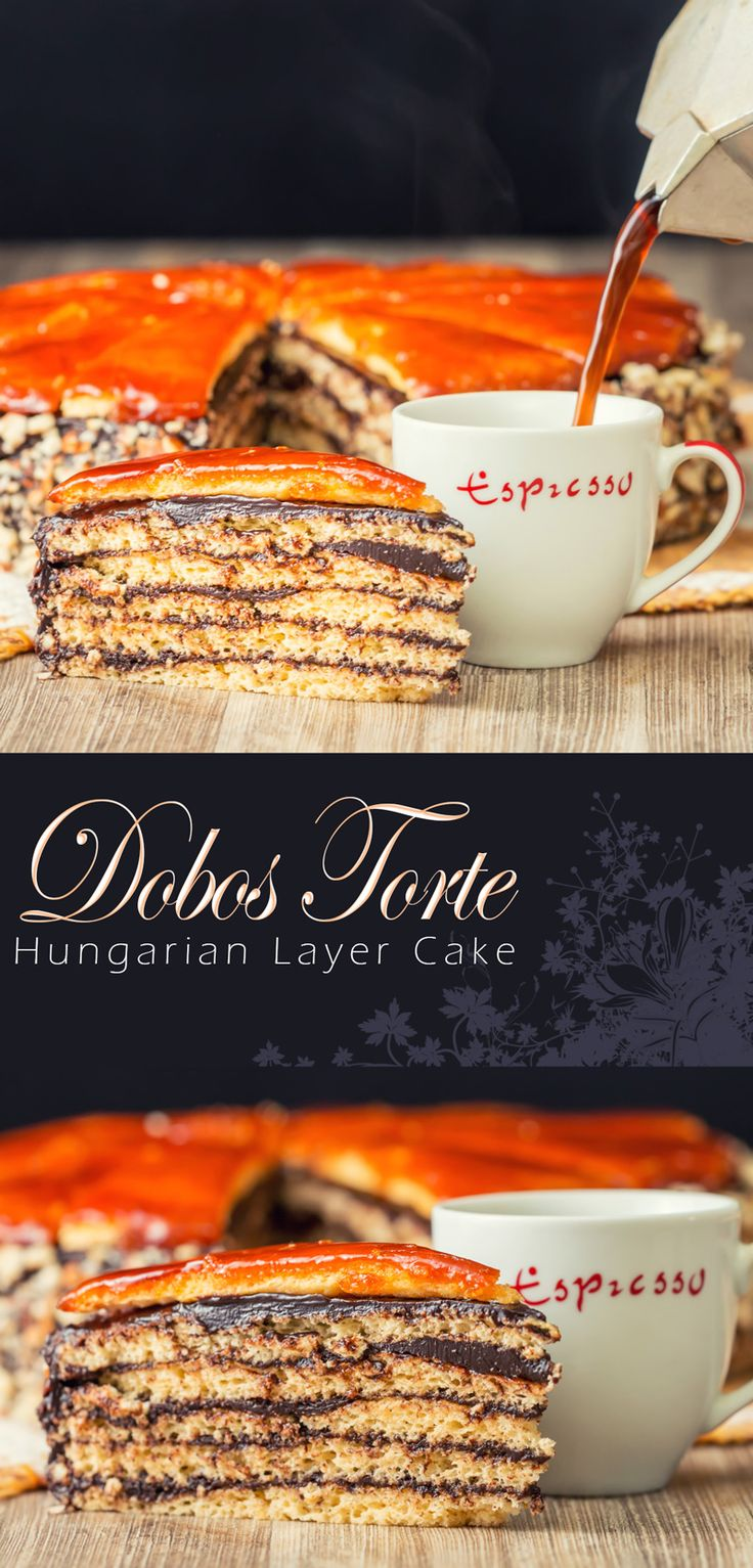 Dobos Torte Recipe Recipe: The Dobos Torte named after its creator József Dobos is a cake of legendary status in Hungary with its 6 layers, chocolate butter cream frosting and caramel topping