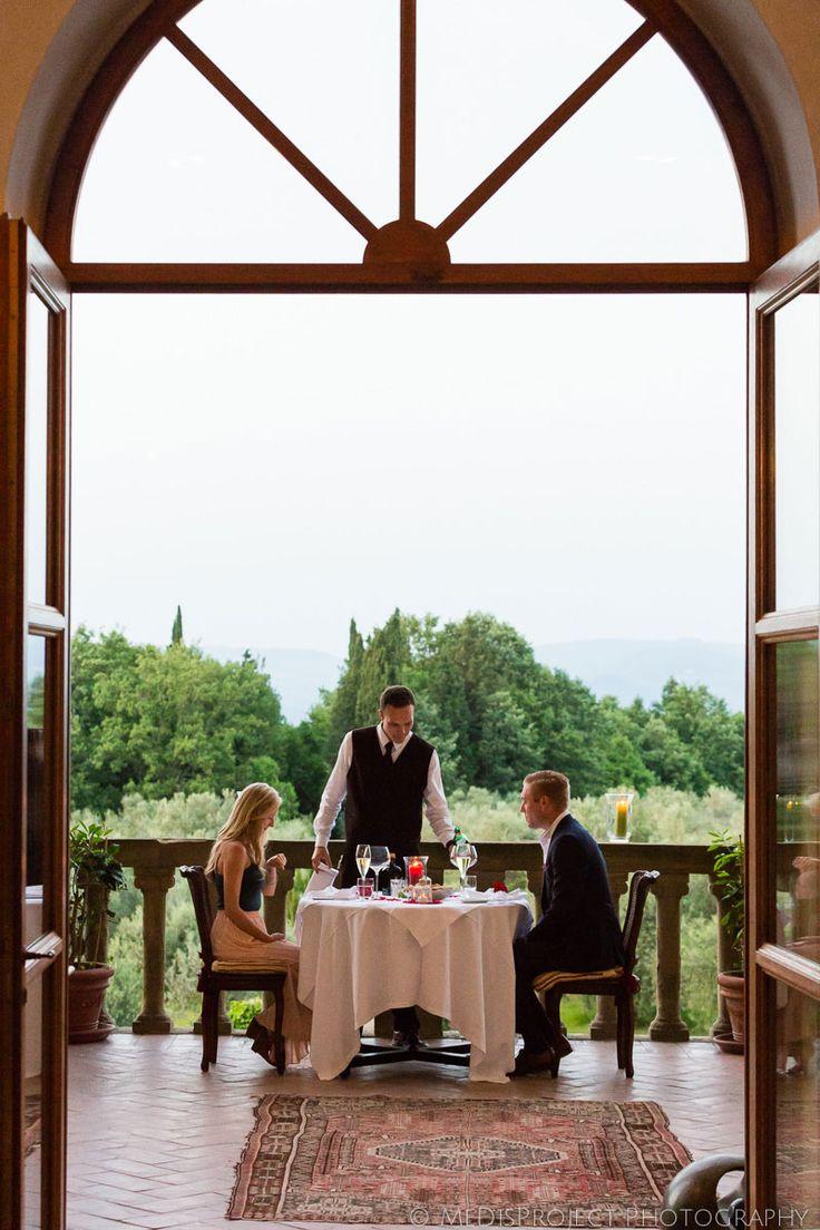 private dinner at Villa Mangiacane, Tuscany