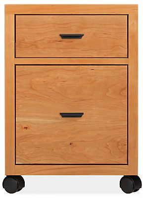 Inspired by Asian design details with a modern edge, the form of our Berkeley rolling file cabinet gracefully bridges classic and contemporary styles. The cabinet features a unique solid wood base, flush sides and distinctive drawer pulls. Berkeley's compact and timeless design offers a versatile file storage option and can go anywhere in your home, featuring smooth-moving casters. Made by North Dakota woodworkers from solid wood and expertly constructed solid wood veneer, this file cabin...