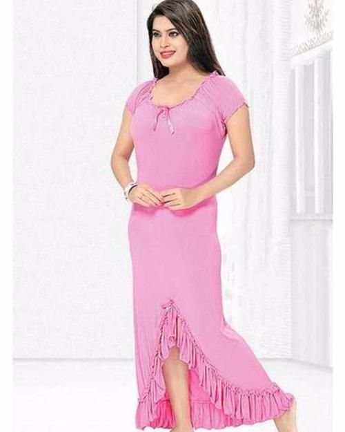 Pink Nighty - FL-0038 - Flourish Nightwear - Nighty - diKHAWA Online  Shopping in 18215e516