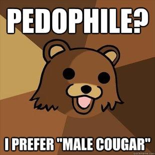 Pedobear- Male Cougar