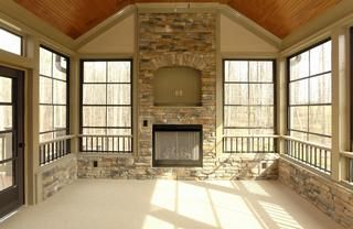 61 best images about screened porch on pinterest for Four season rooms with fireplaces