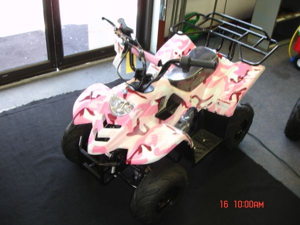 kids 4 wheeler pink | Pink Camo kids 4 wheeler photo, picture, image on Use.com