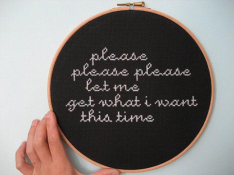 Smiths lyrics stitched
