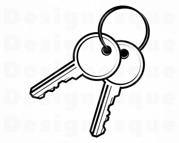 Keys Svg 2 Key Svg Key Ring Svg Keys Clipart Keys Files Etsy In 2021 Key Drawings Key Tattoos Key Rings